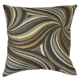 Xarissa Graphic 24-inch Down Feather Throw Pillow Amber