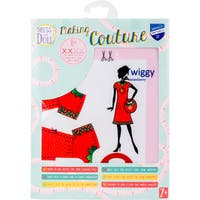 Dress Your Doll Making Couture Outfit Set-Twiggy Strawberry