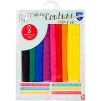 Dress Your Doll Making Couture Fabric Set 8pc-Rainbow
