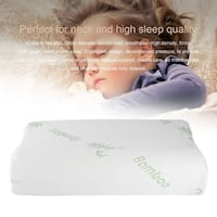 Slow Rebound Queen-size Contour Memory Foam Pillow - White