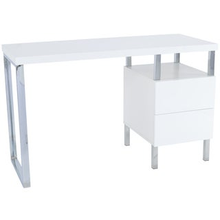 Poly and Bark Jerns White Wooden Writing Desk
