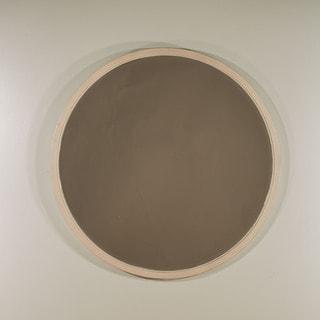 Hillsdale Furniture Taupe Finish Round Mirror