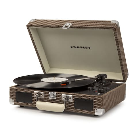 Cruiser Deluxe Bluetooth Turntable- Tweed