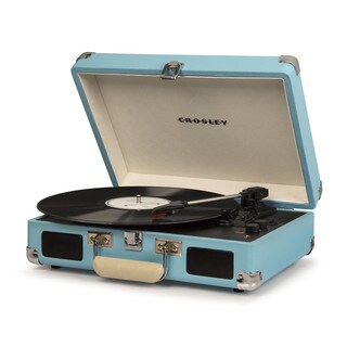 Cruiser Deluxe Bluetooth Turntable- Turquoise