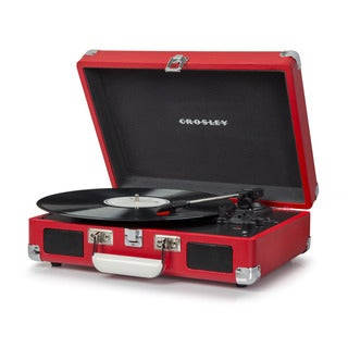 Cruiser Deluxe Bluetooth Turntable- Red