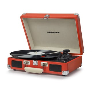 Cruiser Deluxe Bluetooth Turntable- Orange