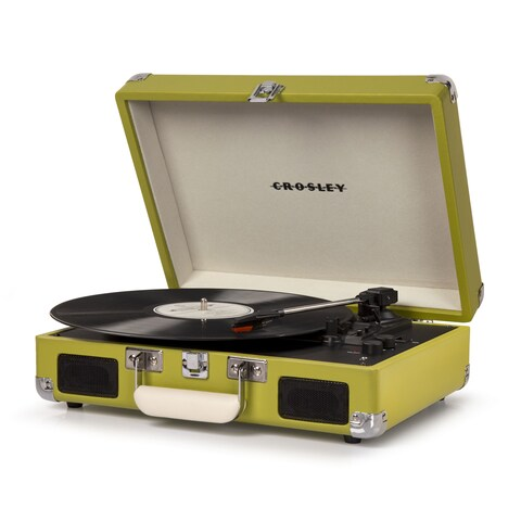 Cruiser Deluxe Bluetooth Turntable- Green