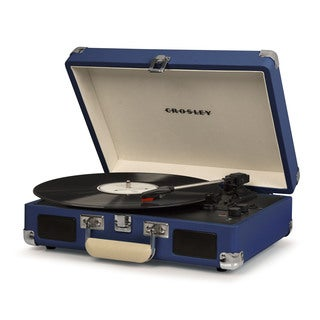 Cruiser Deluxe Bluetooth Turntable- Blue