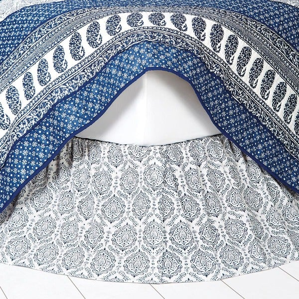 Ceylon Indigo Bed Skirt