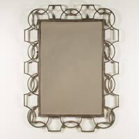 Hillsdale Furniture Distressed Grey Rectangular Scroll Mirror