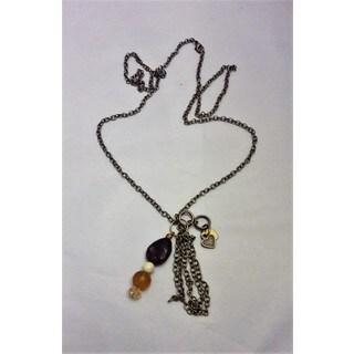Hnadmade Mixed Stone Pendant Necklace (USA)