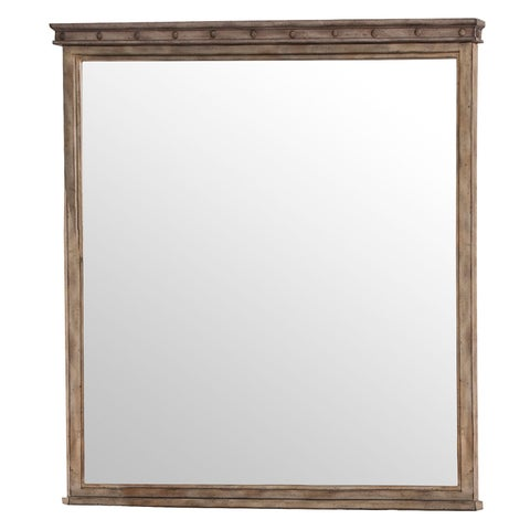 Hillsdale Furniture Emmons Washed Grey Square Mirror