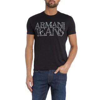 Armani Jeans Black Web Print Logo T-shirt (5 options available)
