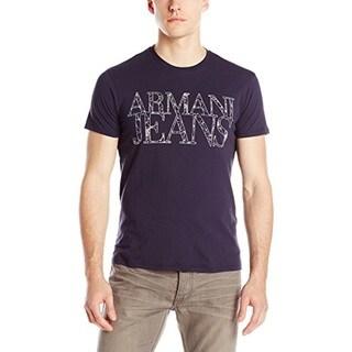 Armani Jeans Navy Web Print Logo T-shirt (4 options available)