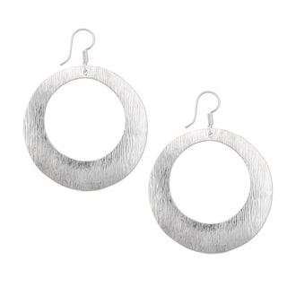 Handmade Sterling Silver Round Earrings (Mexico)