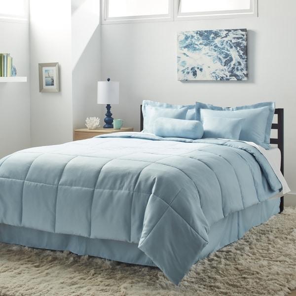 7-piece Solid Comforter Set