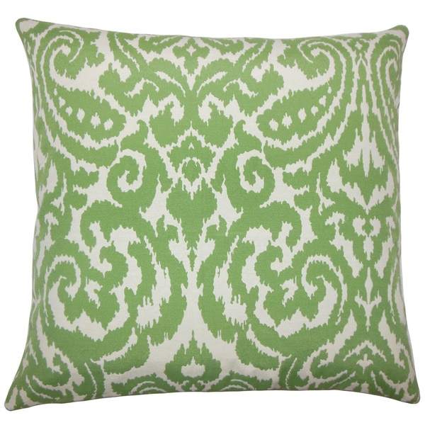 Wafai Ikat 24-inch Feather Throw Pillow Agave