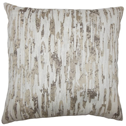 Xanti Graphic 24-inch Feather Throw Pillow Alabaster