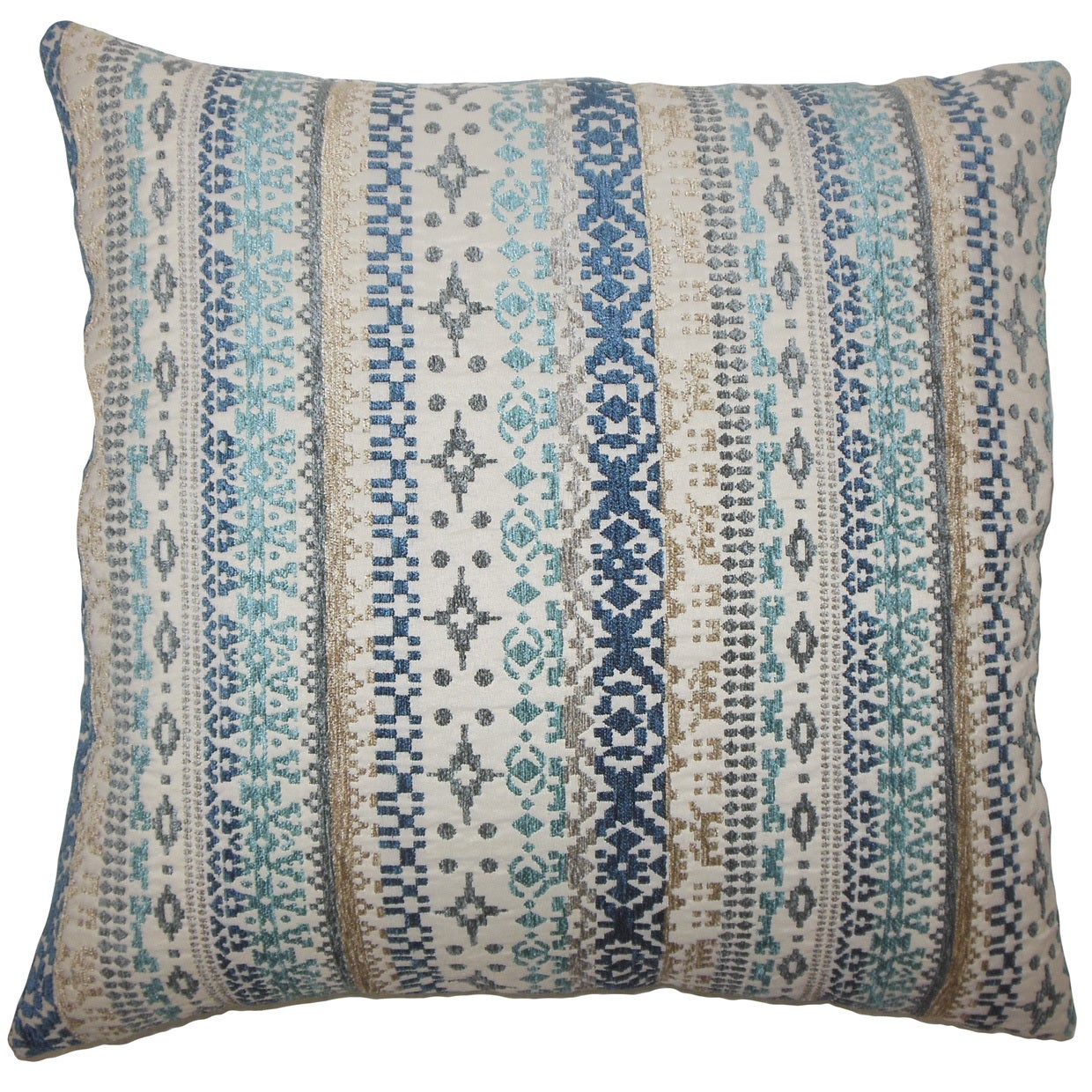 Valko Ikat 24 Inch Feather Throw Pillow River Overstock 15648469