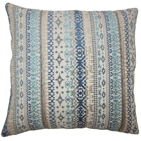 Valko Ikat 24-inch Feather Throw Pillow River