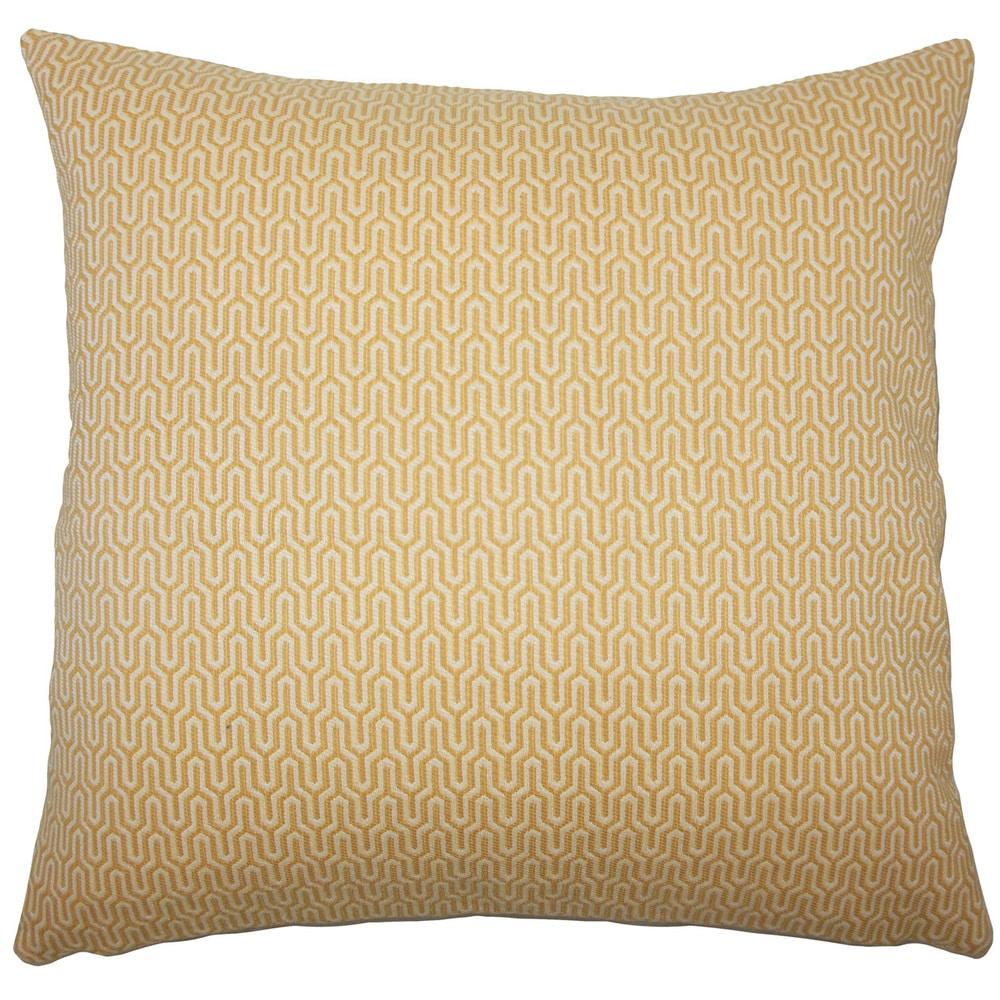 The Pillow Collection Erela Geometric Lichen Down Filled Throw Pillow
