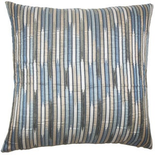 Oceane Striped 24-inch  Feather Throw Pillow Shore