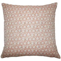 Ladarius Geometric 24-inch  Feather Throw Pillow Tangerine