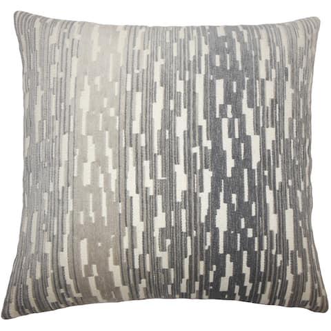 Yohance Geometric 24-inch Feather Throw Pillow Birch