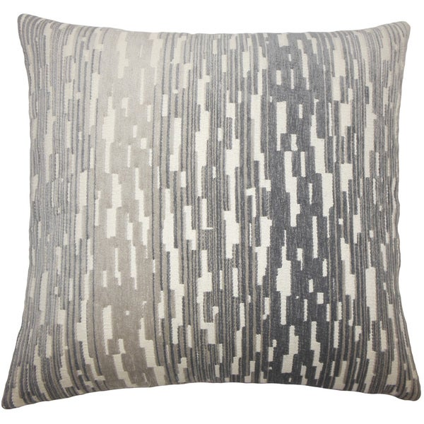 Yohance Geometric 24-inch Feather Throw Pillow Birch. Opens flyout.