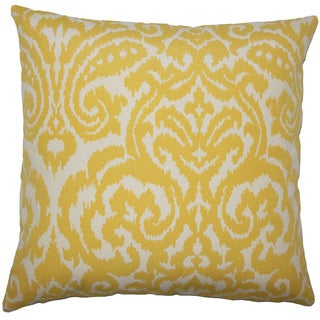 Wafai Ikat 24-inch Down Feather Throw Pillow Pollen