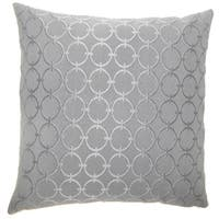 Vadim Geometric 24-inch  Feather Throw Pillow Graphite