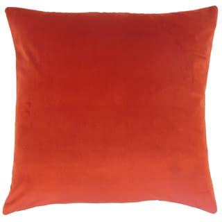 Nizar Solid 24 x 24  Feather Throw Pillow Salsa