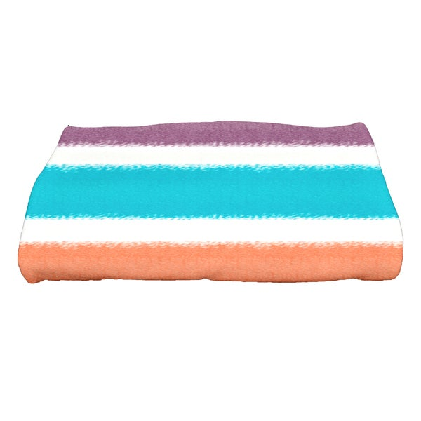 28 x 58-inch, Fun in the Sun, Stripe Print Bath Towel