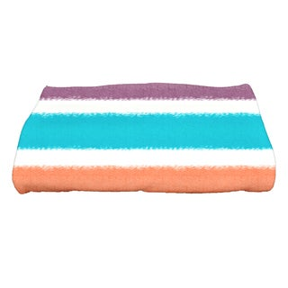 28 x 58-inch, Fun in the Sun, Stripe Print Bath Towel