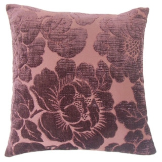Cenobia Floral 24-inch Down Feather Throw Pillow Violet