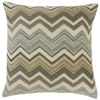 Saroja Zigzag 24-inch Down Feather Throw Pillow