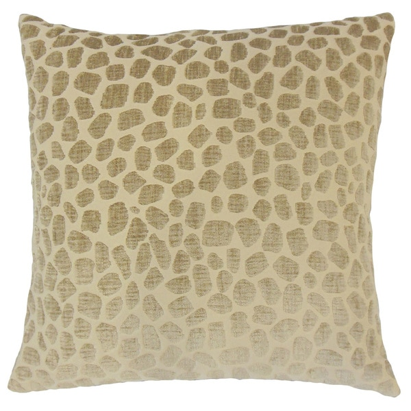 Lameez Geometric 24-inch Feather Throw Pillow Linen