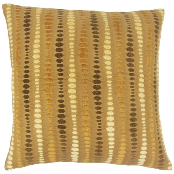 Eolande Geometric 24-inch Feather Throw Pillow Teak