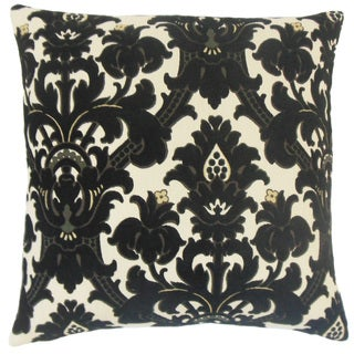 Beonica Damask 24-inch Down Feather Throw Pillow Domino