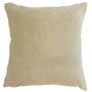 Daire Solid 24-inch  Feather Throw Pillow Pumice