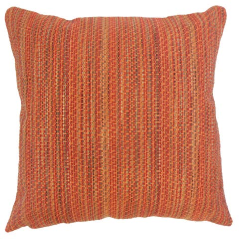 Raith Stripes 24-inch Feather Throw Pillow Tamale