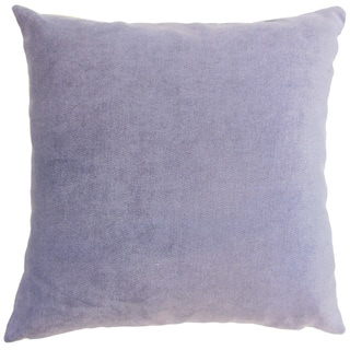 Xyla Solid 24 x 24 Down Feather Throw Pillow Violet