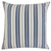 Henley Stripes 24-inch Down Feather Throw Pillow Navy
