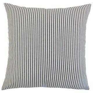Ira Stripes 24-inch  Feather Throw Pillow Black