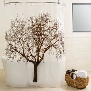 Splash Home Tree Mocha Shower Curtain