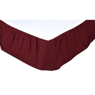 Solid 16-inch Drop Bed Skirt