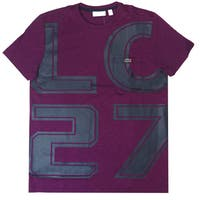 "Lacoste Men's Purple ""LC27"" Logo T-Shirt"