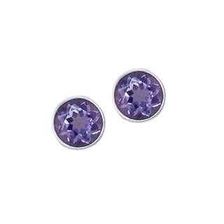 Handmade Sterling Silver Amethyst Post Earrings (Mexico)