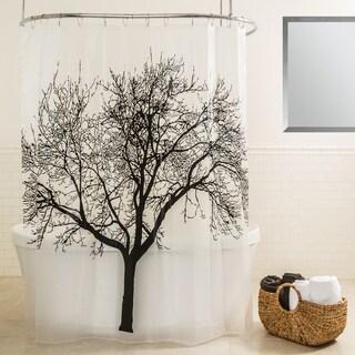 Splash Home Tree Black Shower Curtain