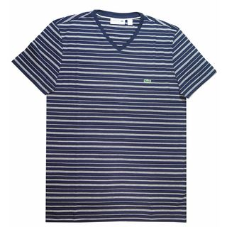 Lacoste Men's Navy Striped T-shirt (2 options available)